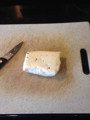 Halloumi, straight out of the package